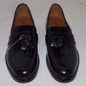 Bostonian men's black leather loafers size 9.5M